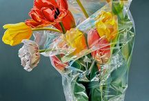 Because of transparency. Hyper realistic oil paintings. Tjalf Sparnaay