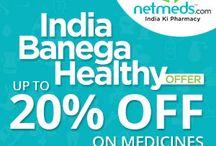 Netmeds Coupon codes on Online Medicine Shopping