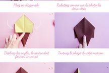 Origami / Origami, Papier, Falten, DIY Falten, Japan