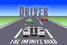 Infinite Road Driver / Score the maximum points driving this impossible race!