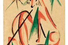 Franz Marc (1880-1916)-Tullio Crali-Giulio D'Anna (1908-1978)-Gino Severini (1883-1966)