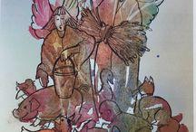 Fantasi, fargelek og tegning