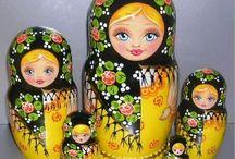 Matryoshka ''s / houten popjes
