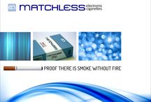 Electronic Cigarette Marketing / Posters and adverts produced for the Matchless brand of E-cig between 2010 and 2015