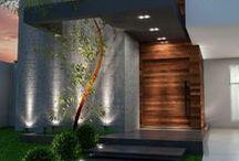 Lighting, landscape, facade