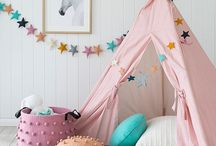 Girls Room Decor / Everything you need to create a dream bedroom for your little girl, from rugs to beds, from wall decor to cute accessories.