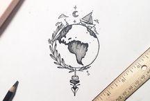 dessin + tatouages