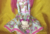 My cloth art dolls, all dolls on this board are made by me  / I love to make whimsical cloth art dolls.