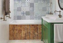 Salle de bain / Repos et bien être, la salle de bain est un petit (ou pas) espace à organiser pour en profiter pleinement.