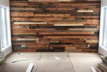 ściana drewniana