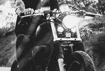 Beard men on motorcycles