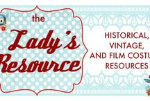 Resources for Historical, Vintage and Film Costumes / by Donna Cotterman