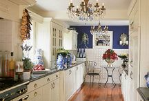 Kitchen / Inspiration for our blue and white kitchen.... / by Terri Deeds