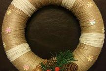 ozdoby świąteczne ze sznurka i wikliny papierowej