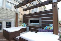 Outdoor living / Outdoor living. Outdoor spaces. Dream deck/patio. Outdoor furniture. Diy