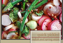 quick-pickled spring radish and onion