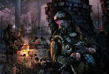 S. T. A. L. K. E. R. / Stalker games and artworks
