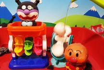 アンパンマン アニメ❤おもちゃ 夏は水遊び!バイキンマンと水車!Anpanman toys