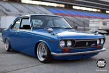 Chris's Datsun before and after restoration :) / by Jennifer Freel