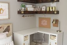 escritorio en esquina