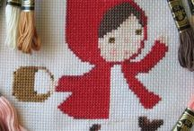 midnattsol / cross stitch