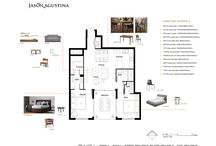 Mood Boards | Living Spaces / Mood boards for 2 bedrooms stylish apartment