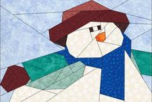 personnage paper piecing