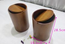 houten prullenbak