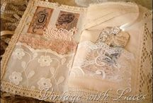 Vintage lace books, bags, hangers / by Yvonne Fairfax-Jones