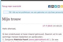 Reviews over zangeres Patricia Foort op internet / Ervaringen van klanten