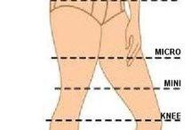 схема длины юбок