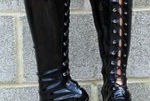 Spikes / chiefly spiky, but also other types of high heel. some boots.
