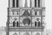 Notre Dame / One of the finest examples of French Gothic architecture, it is among the largest and most well-known church buildings in the world