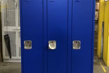 Tipton High School Offices - Tipton, IN #DeBourgh #Lockers / #Corregidoor #BlueHammer #LouveredVentilation #PianoHinge #SentryTwoLatch #SlopeTop #ClosedBase #DeBourgh #Lockers