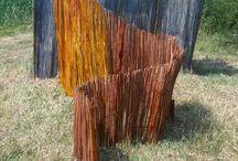 Land art sculpture / Land art artworks by Irene Russo #wood #landscape #landArt #art