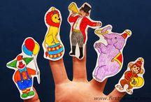 cirkus finger dockor