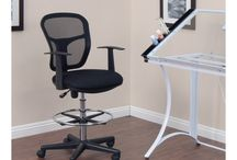 Studio Designs Drafting Chairs and Stools / These seating options are a perfect match for your drawing/drafting table or hobby/craft table. #StudioDesigns