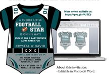 NFL Inspired Baby Shower Invitations