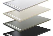Platos de Ducha / Platos de Ducha extraplanos de carga mineral y resina