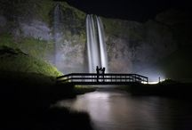 Mesmerizing Waterfalls / These stunning pictures of beautiful Icelandic waterfalls will take your breath away. The mesmerizing shots show the striking waterfalls set against the night sky and the hypnotic green glow of the northern lights, as well as the picturesque Icelandic scenery and stunning sunrises. Photographer Arnar Kristjansson, from Reykjavik in southern Iceland, captured the breath-taking images while on a trip away with his girlfriend Simona, from Italy. | www.godsfolder.com #GodsFolder