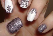 Snow and ice nails inspirations - lód i śnieg na paznokciach / Śnieżne i lodowe inspiracje na zimowy manicure