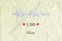 """Wedding Audio Waveforms / Canvas option for your wedding audio, """"I do"""", """"I will"""" and the such."""