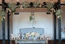 Sweetheart  & Head Table Wedding Decor / It's your day, so why not have all the attention focused on you!