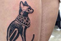 Cat tattoos egypt