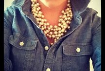 pearl statement necklace outfit