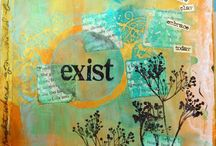Mixed Media-Collage Art / Artwork that includes tangible mixed media. Includes collage, encaustic, ephemera, metal applications and more. / by Itaya Lightbourne
