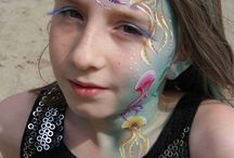 sea themed face paintings