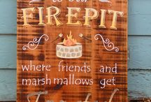 fire pit sign