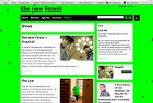 Web Design - concept -  / Conception intéressante de site web