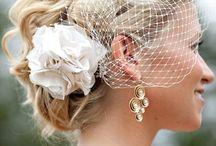 wedding hair birdcage